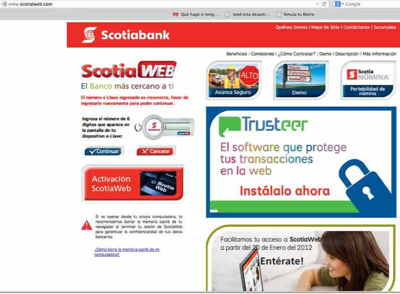 Fraude con Scotiabank