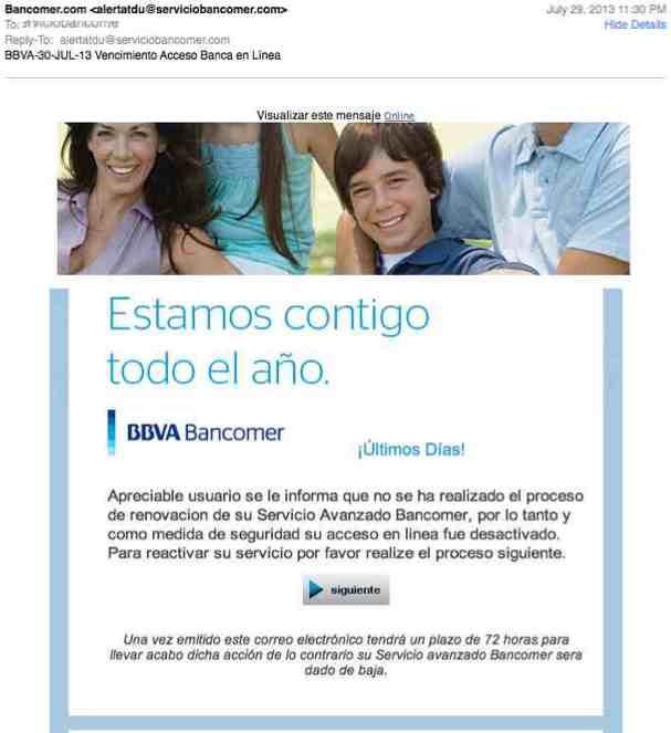 Correo Bancomer