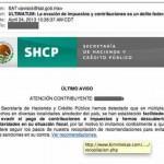 Correo fraudulento SHCP SAT