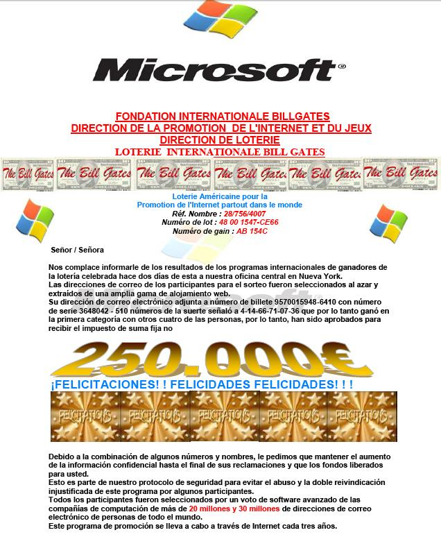 Loteria Bill Gates Foundation