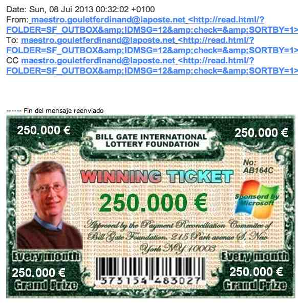 Bill gates international  Lottery Foundation
