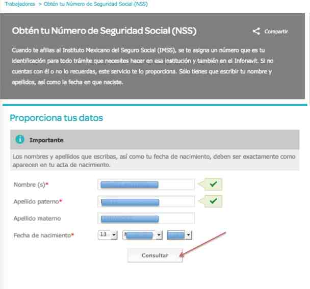 Numero de seguro social IMSS