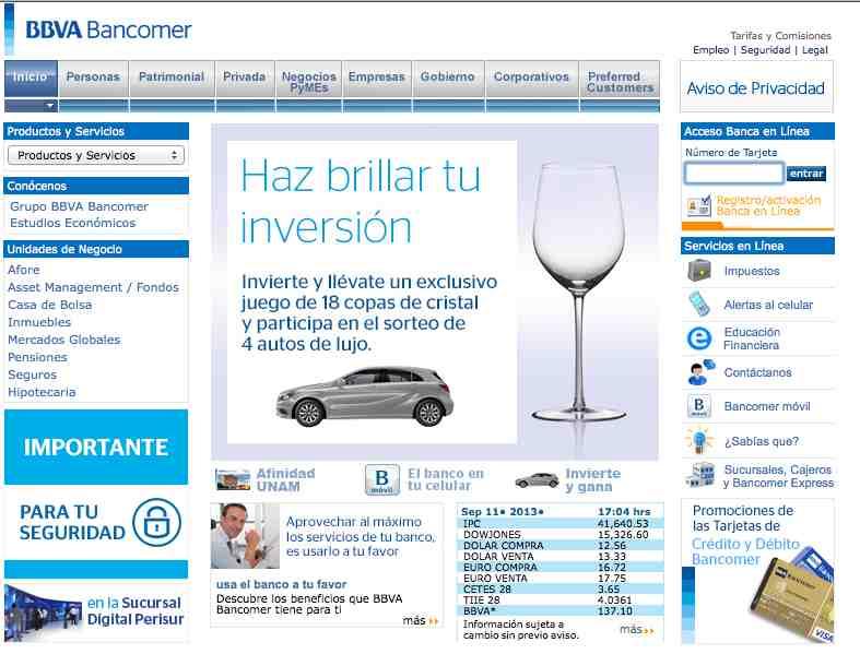 Pagina verdadera BBVA Bancomer