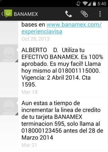 Mensaje Banamex