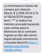 mensaje de banorte que es fraude