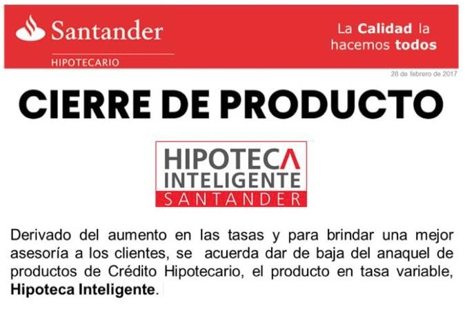 Cancelan la Hipoteca Inteligente