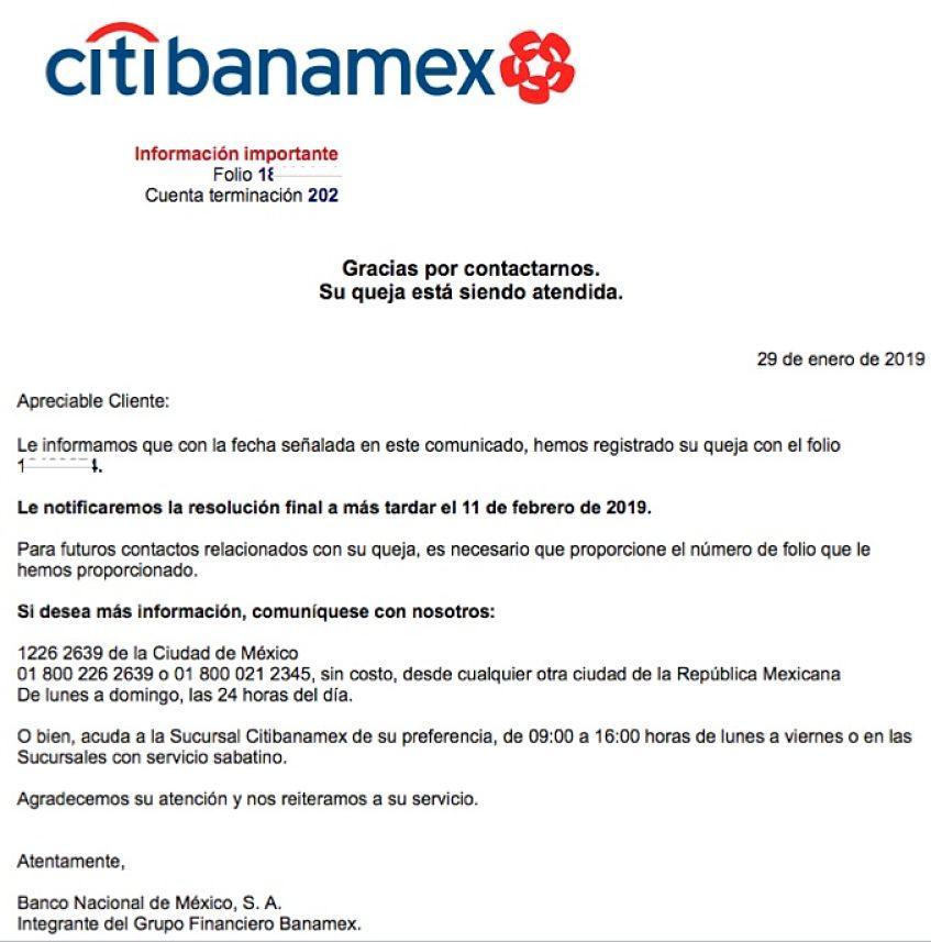 bonificacion Banamex resulto un fraude hasta ahora
