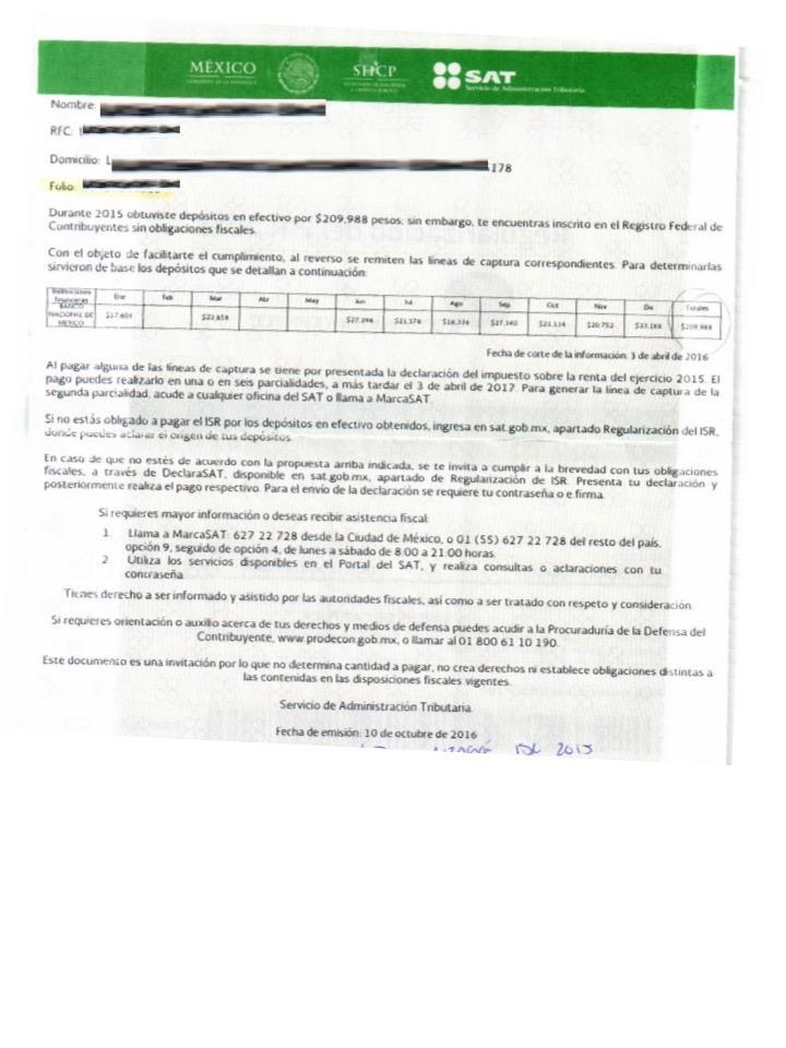 carta invitacion del sat 2
