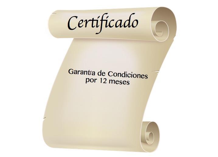 certificado de garantia de condiciones